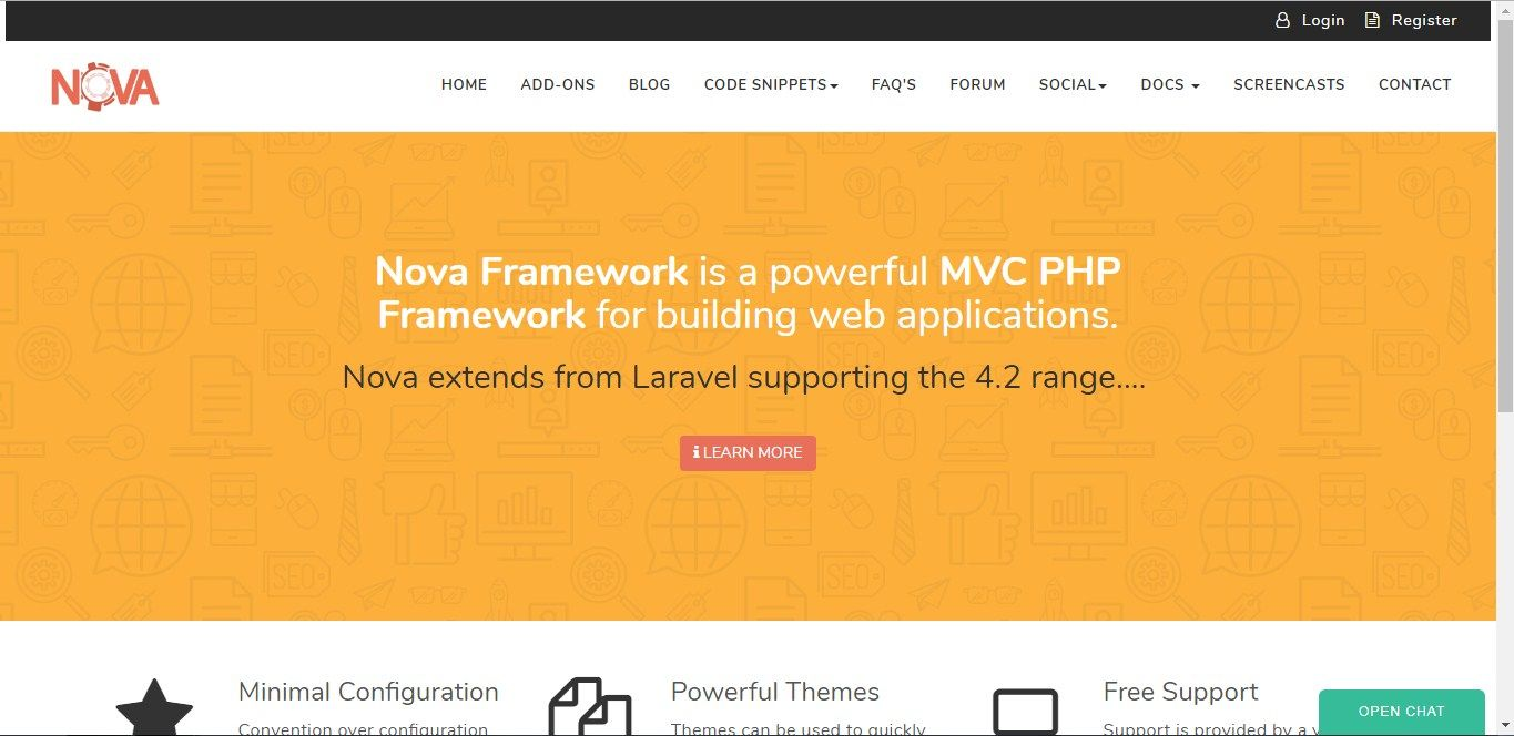 Nova Framework is a powerful MVC PHP Framework for building