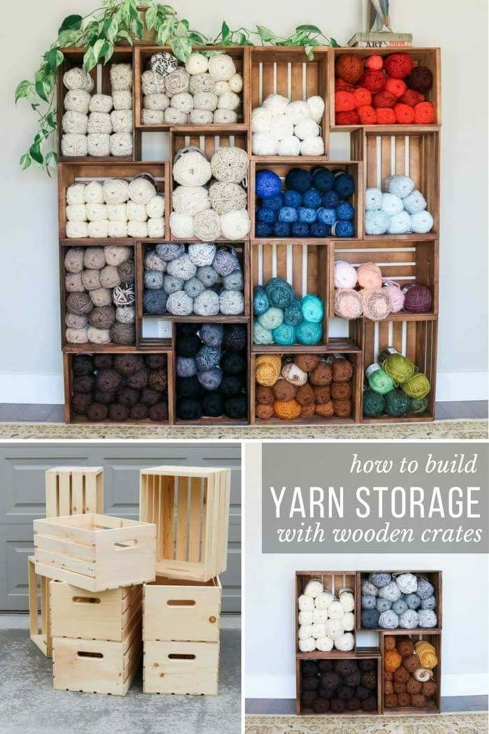 Photo of How to Build DIY Yarn Shelves with Crates + Zip Ties