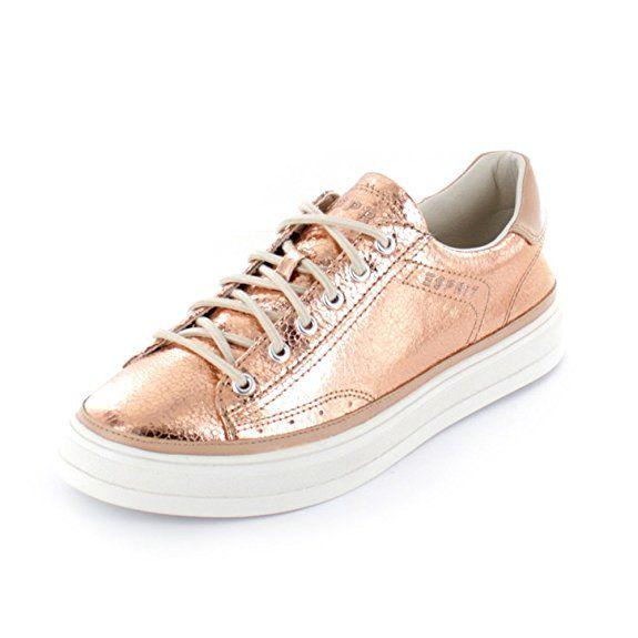 Esprit 076EK1W054275 Sidney Lace Up Damen Sneaker (37, Rot