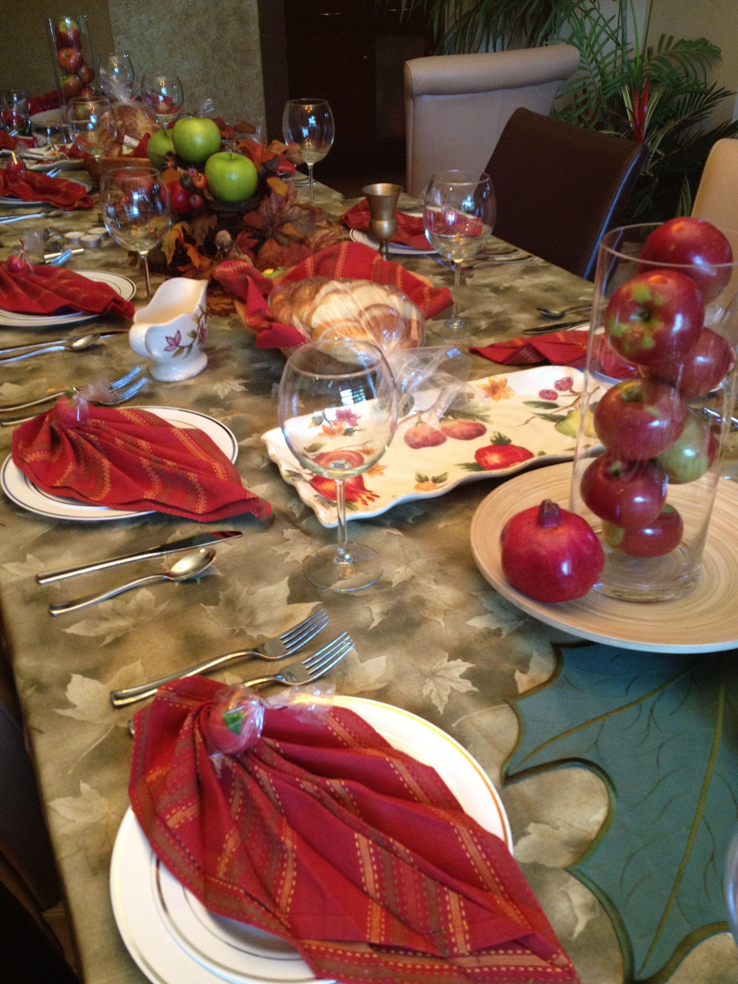 Table Setting For Rosh Hashanah Rosh Hashanah Pinterest Rosh