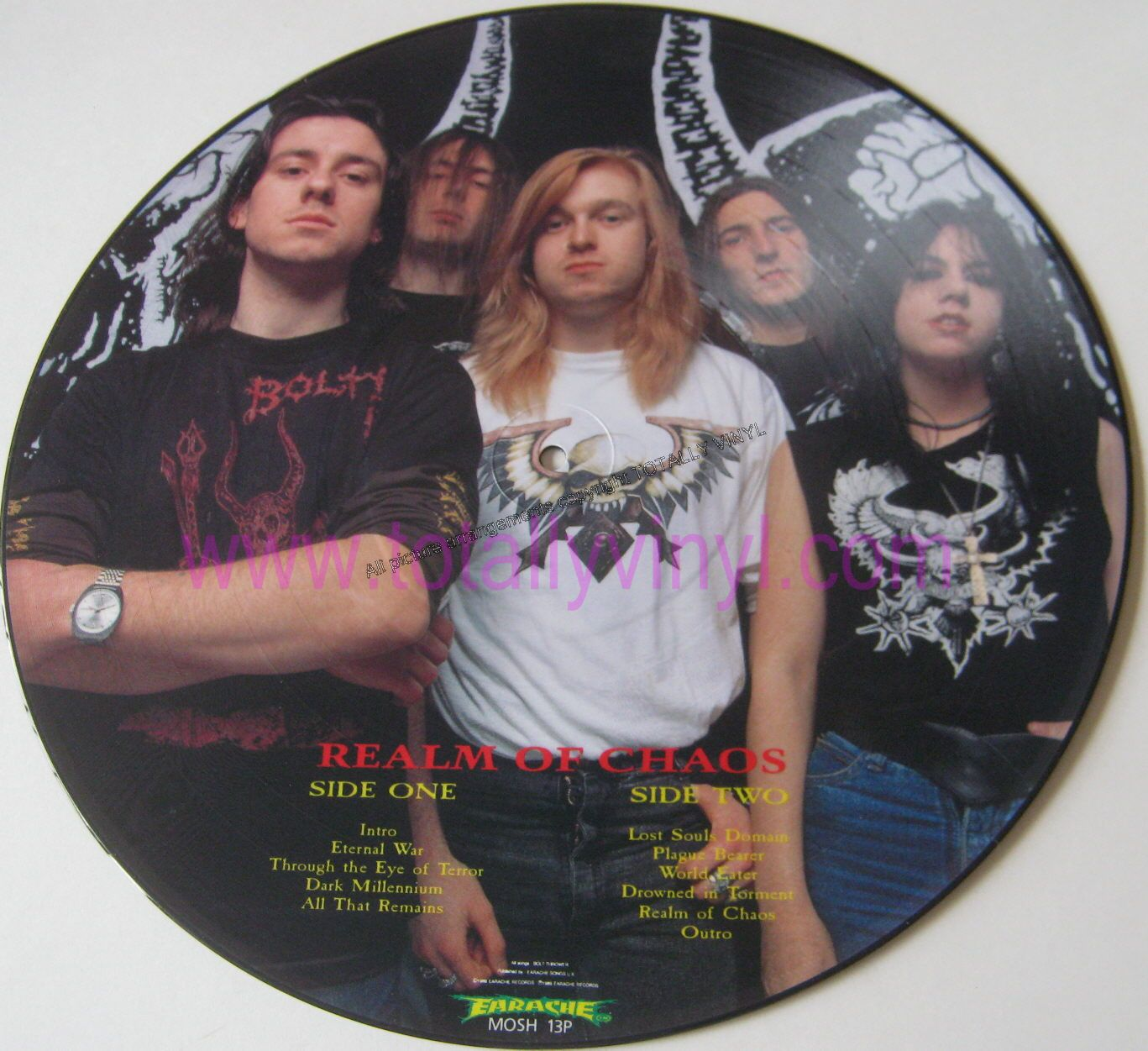 Bolt thrower realm of chaos picture disc vinyl death