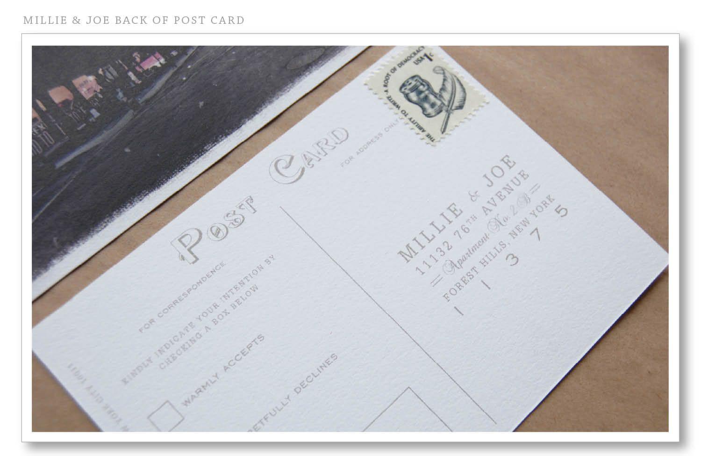 Post card return response