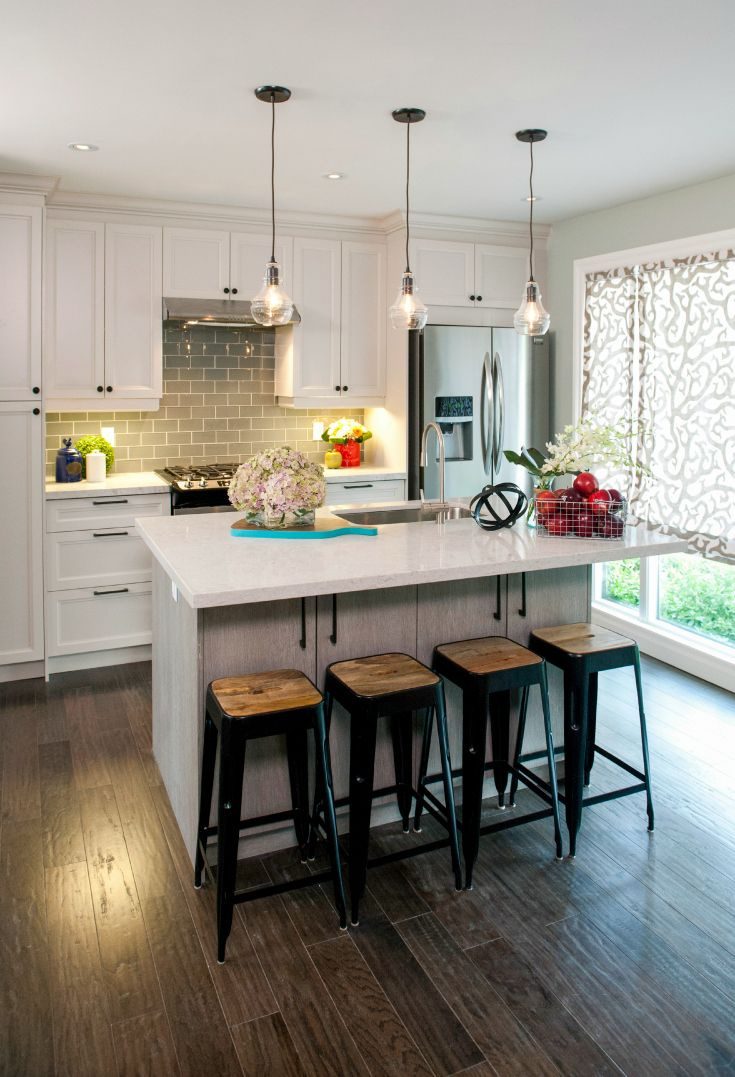 Room Transformations From The Property Brothers HGTV Shows - Small hanging kitchen lights