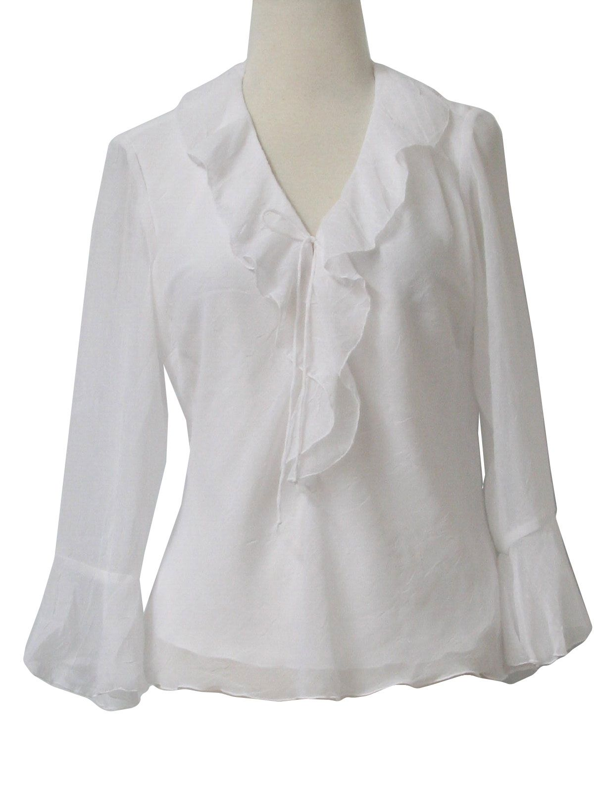 White Ruffle Blouse Photo Album - Reikian