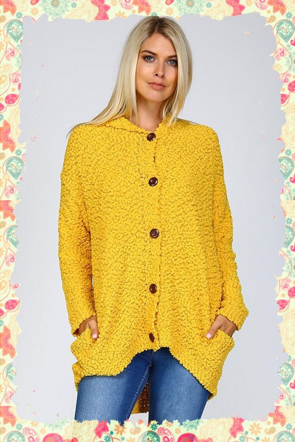 Hot Buttered Popcorn Sweater