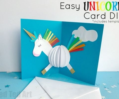 All Unicorn Lovers Must See This Adorable Paper Unicorn Decoration Such A Cute 3d Unicorn Diy A Great Room Deco Unicorn Card Diy Pop Up Cards Unicorn Crafts