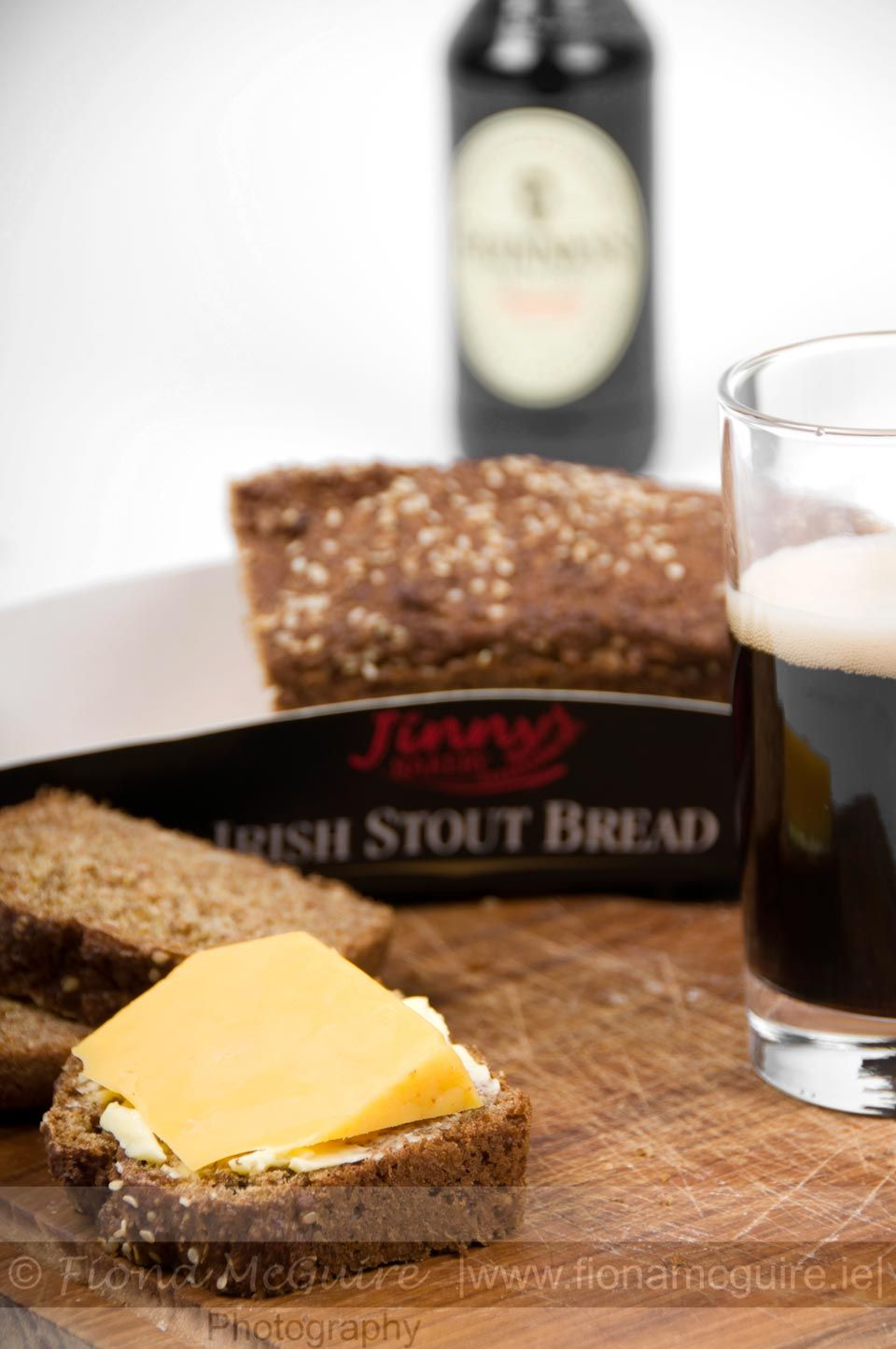 Jinnys Bakery - Irish Stout Bread.  Product Photography by Fiona McGuire (Me!)