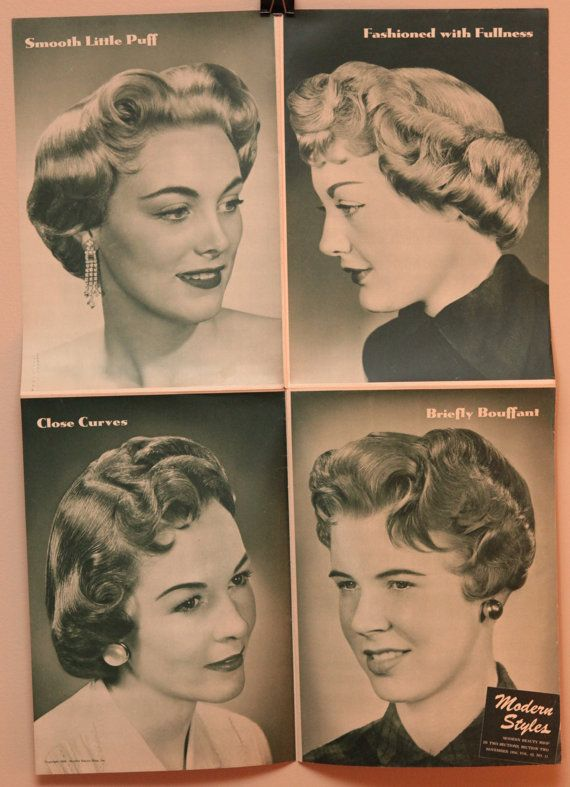 Lot Of Three Vintage Hair Salon Posters 16x22 By Oldbooksmell 8 00 In 2020 Vintage Hairstyles Vintage Hair Salons Retro Updo