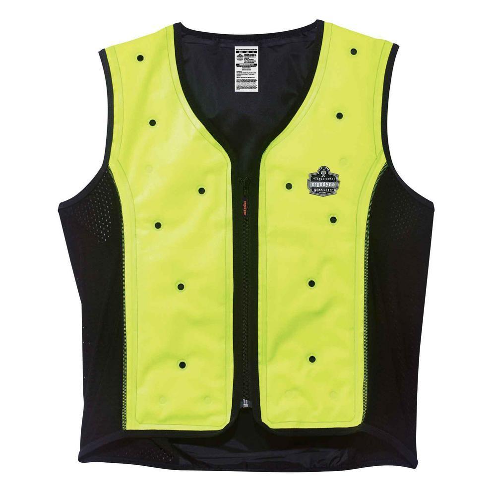 Ergodyne Chill Its Unisex Medium Lime Dry Evaporative Cooling Vest
