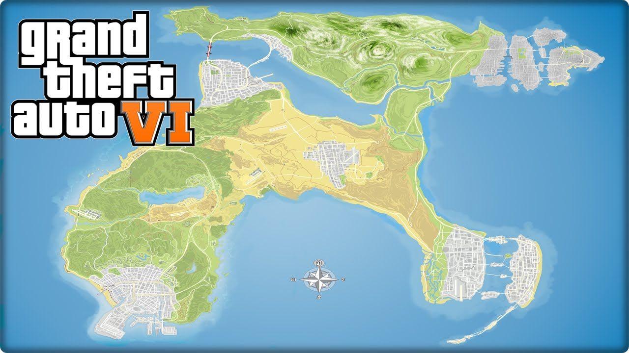 GTA 6 Map - GTA 6 Super Map Concept : Las Venturas, Liberty City ...