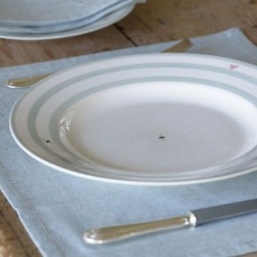 Create your own dinner service - designed to mix and match our handmade dinner plates looks wonderful on the table & Honey Bee Stripes Dinner Plate - 29 cm | kitchen | Pinterest | Bees ...