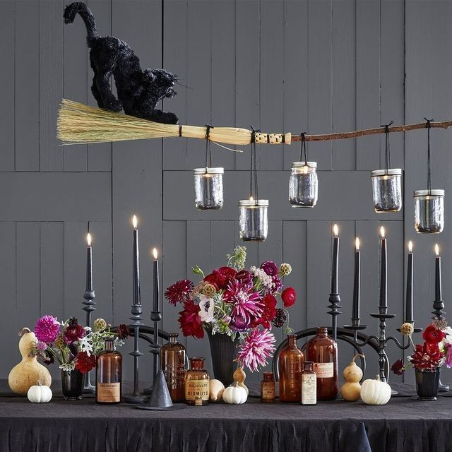 Repaint Cheap Candle Holders Black And Make A Witches