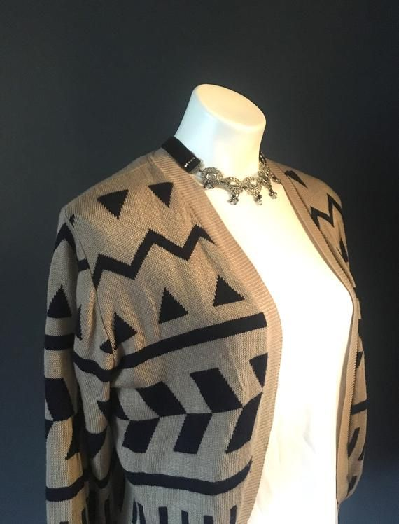 Vintage Bolero Style Sweater, Shrug Sweater, Open Front Bolero Cardigan #shrugsweater