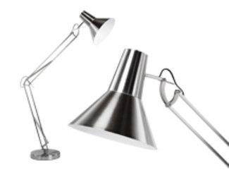 Bronx grote staande lamp geborsteld chroom lampen