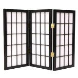 Too dark? Too tall?    Small Size Rice Paper Screen - 2ft. Window Pane Desktop Shoji Screen Room Divider - 3 Panel Black - http://cheaproomdividers.net/small-size-rice-paper-screen-2ft-window-pane-desktop-shoji-screen-room-divider-3-panel-black/