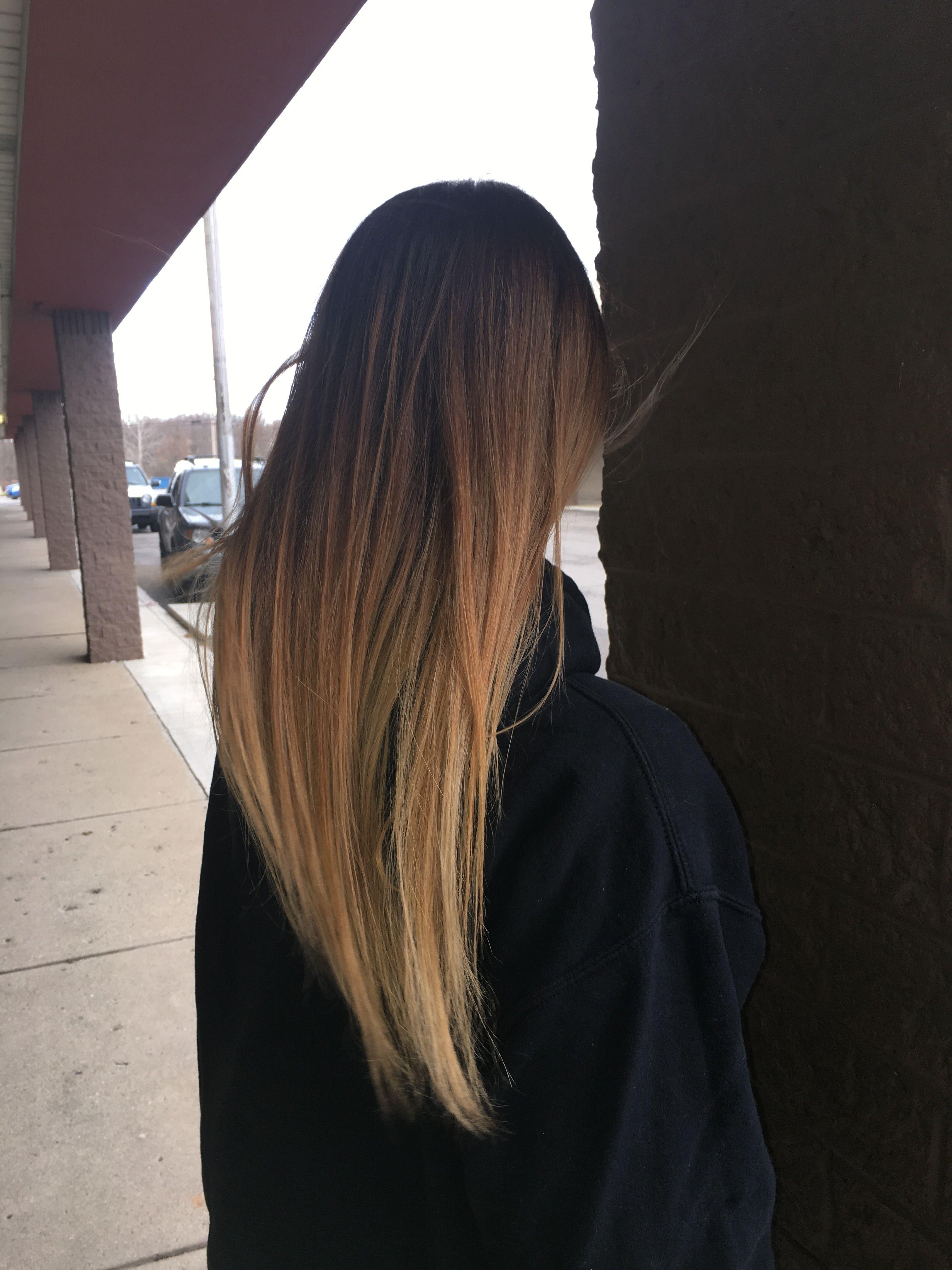 #hair #balayage #brown #blonde