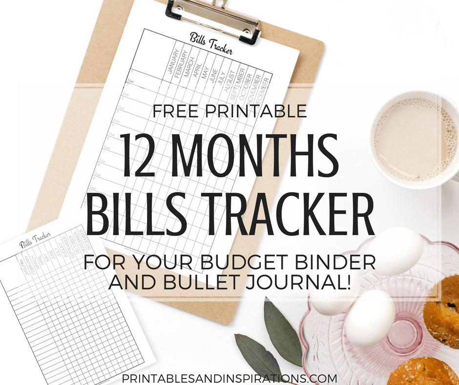 Free Printable Monthly Bills Tracker Printables And Inspirations Bill Planner Bill Tracker Budget Binder