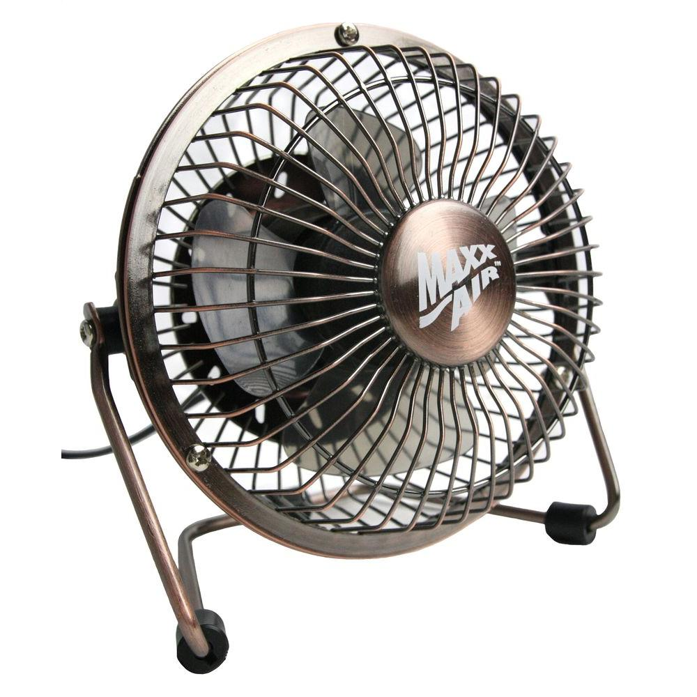 maxxair 4 in usb desk fan in bronze products desk fan mini desk fan small desk fan. Black Bedroom Furniture Sets. Home Design Ideas