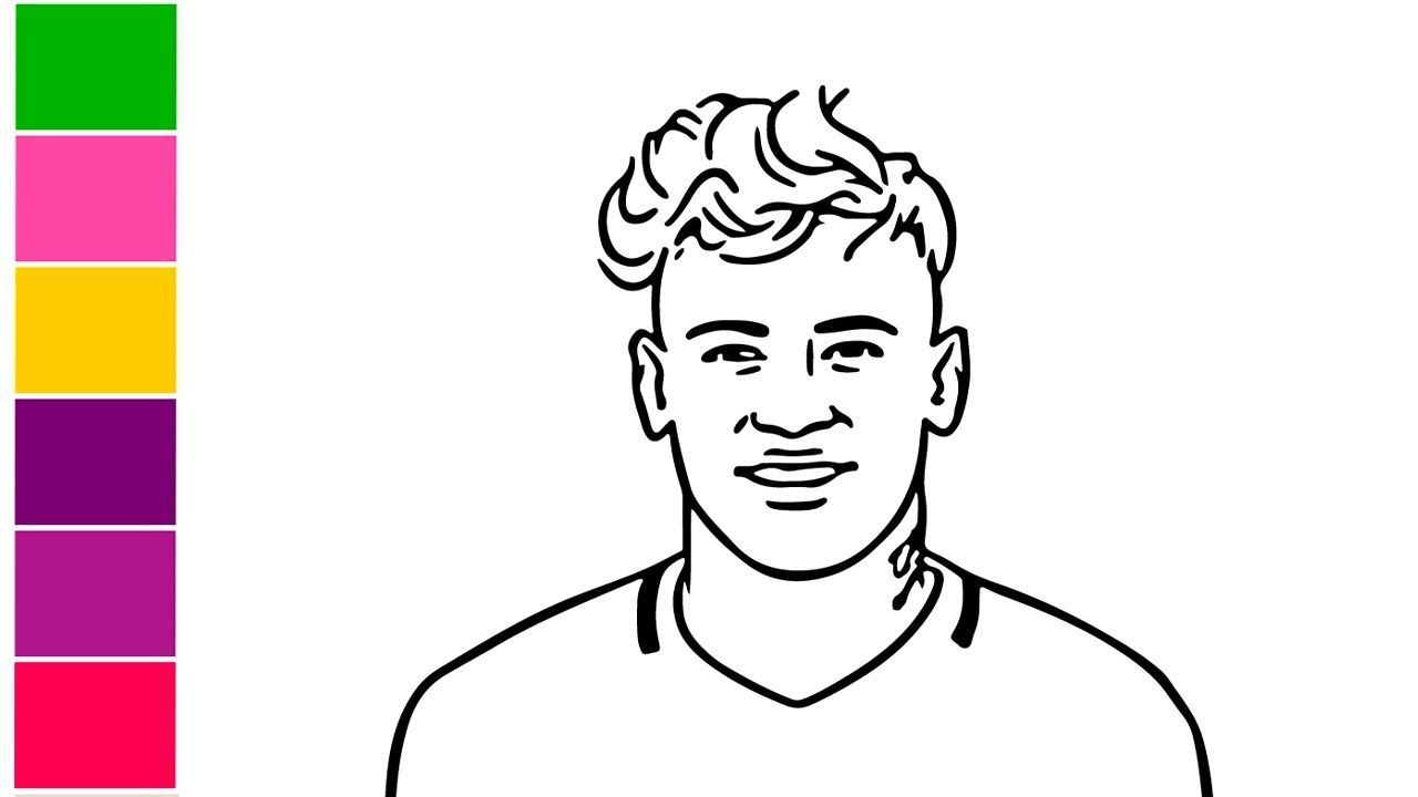 How To Draw Neymar Jr Step By Step Easy With Pencil Neymar Jr