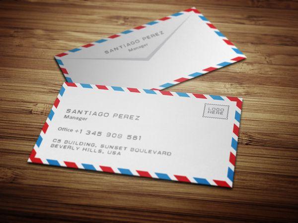 Envelope Business Card Design On Behance