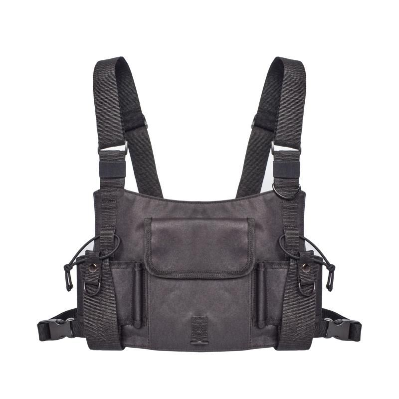 Radio Harness Chest Front Pack Pouch Holster Vest Rig Bag
