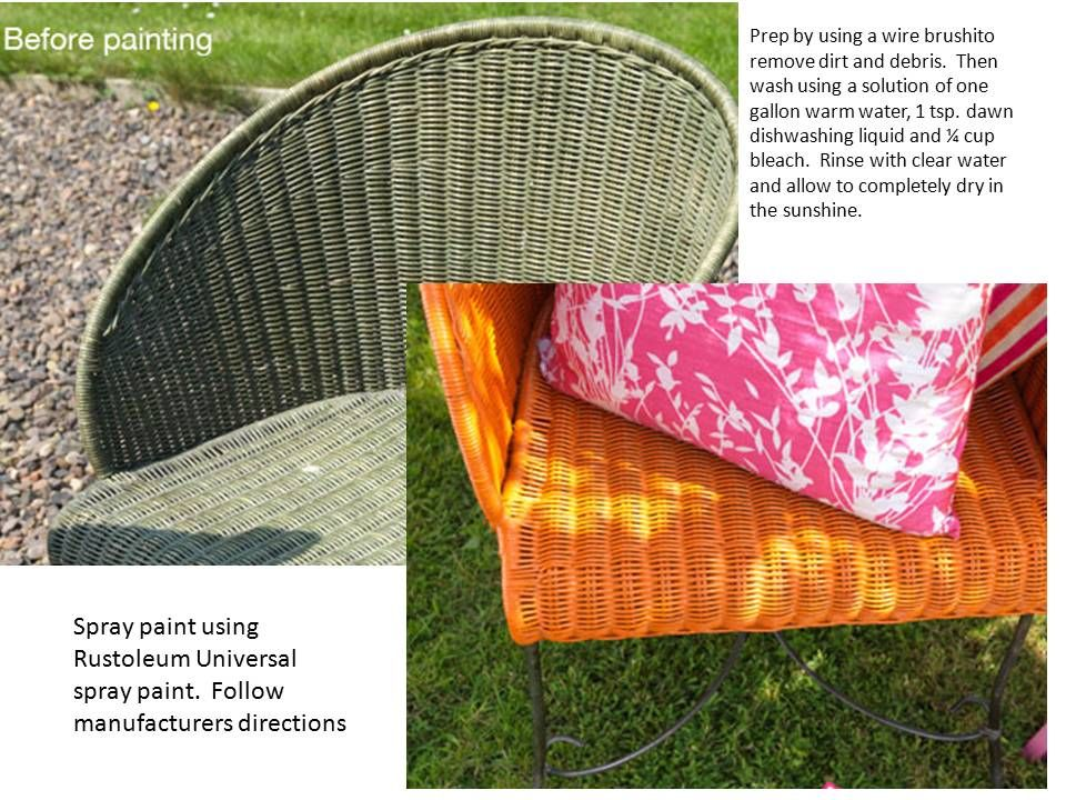 Outdoor Wicker Chairs How To Refinish.