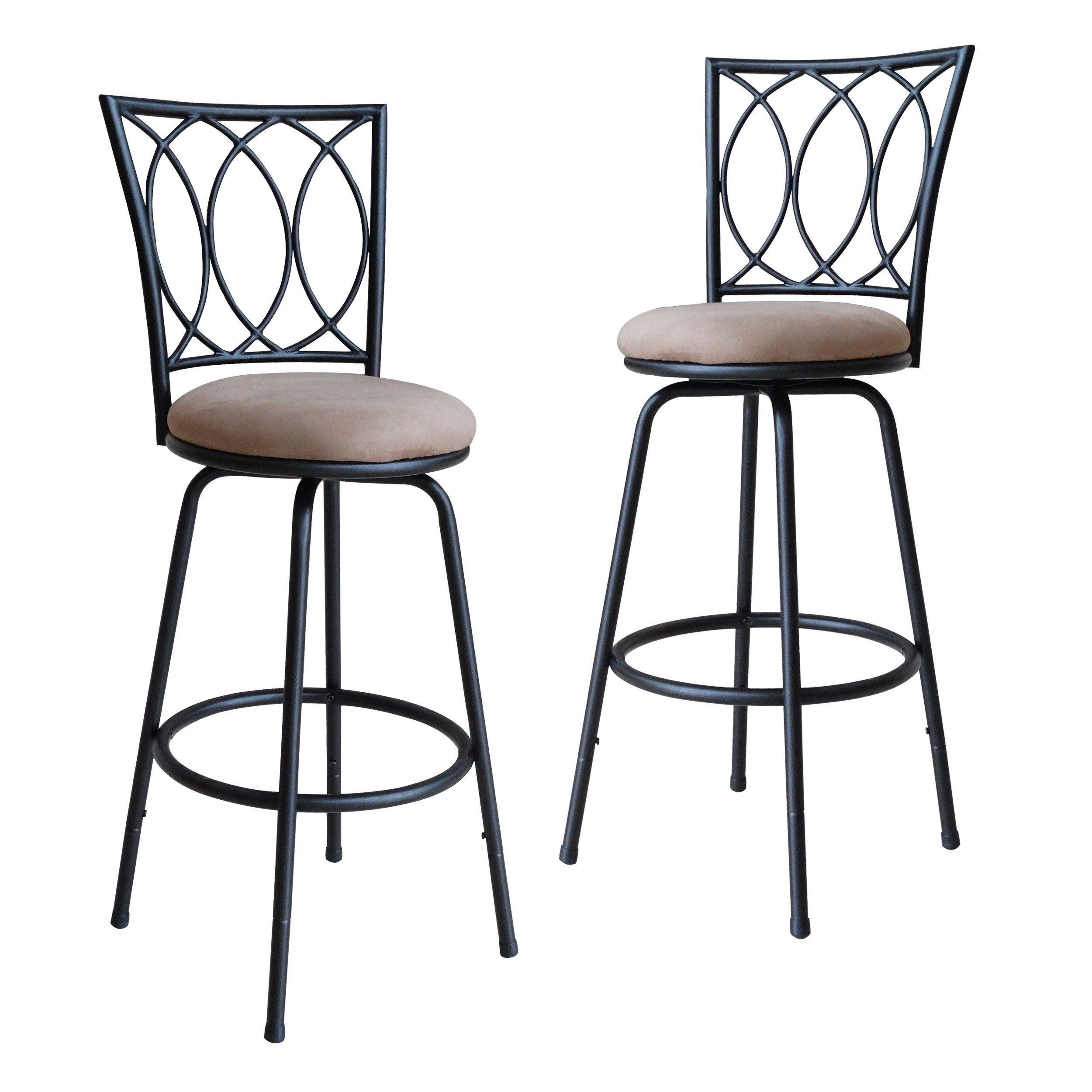 Swell Porch Den Folsom Adjustable Metal Bar Stool In Brown Cjindustries Chair Design For Home Cjindustriesco