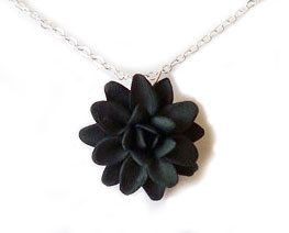 Tiny Dahlia Necklace Simple Flower Necklace Simple Necklace Jewelry Necklace