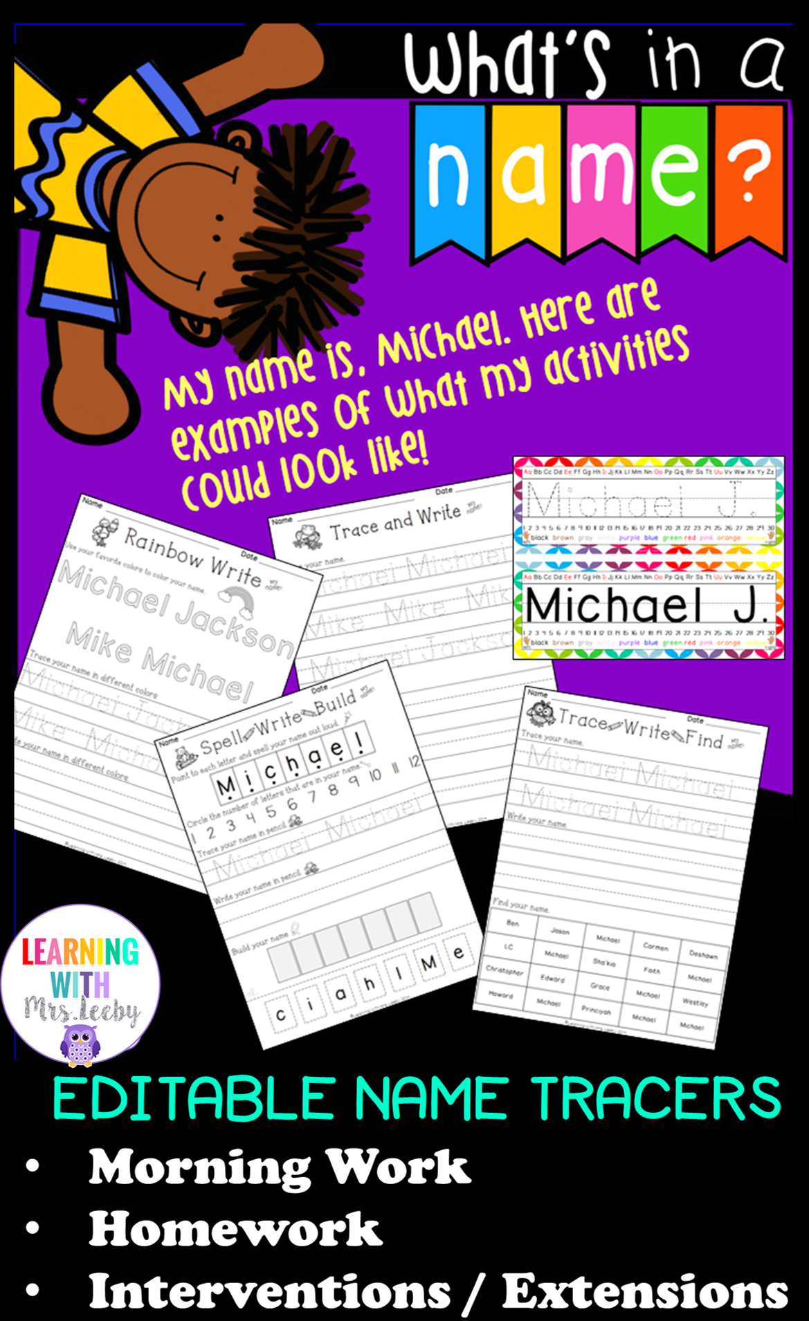 With Four Different Customizable Name Worksheets Your