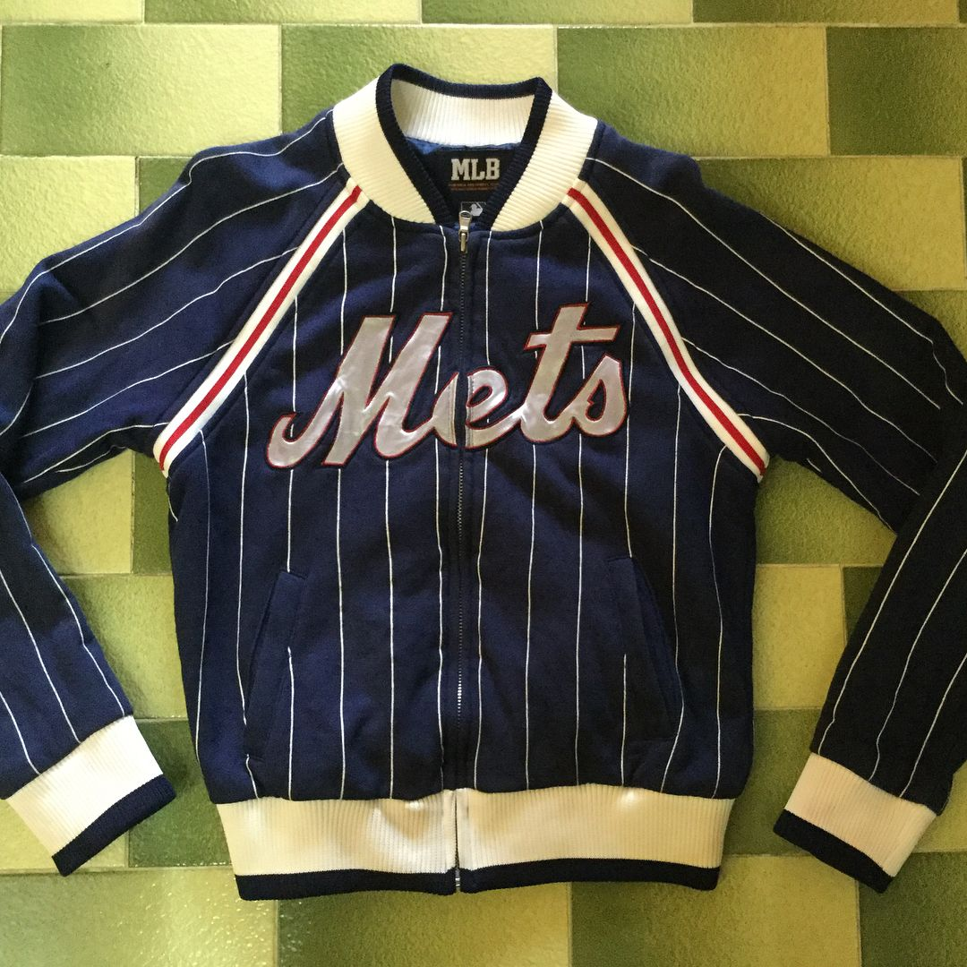 . MLB New York Mets Pinstripes zipup Jacket Kid size 90