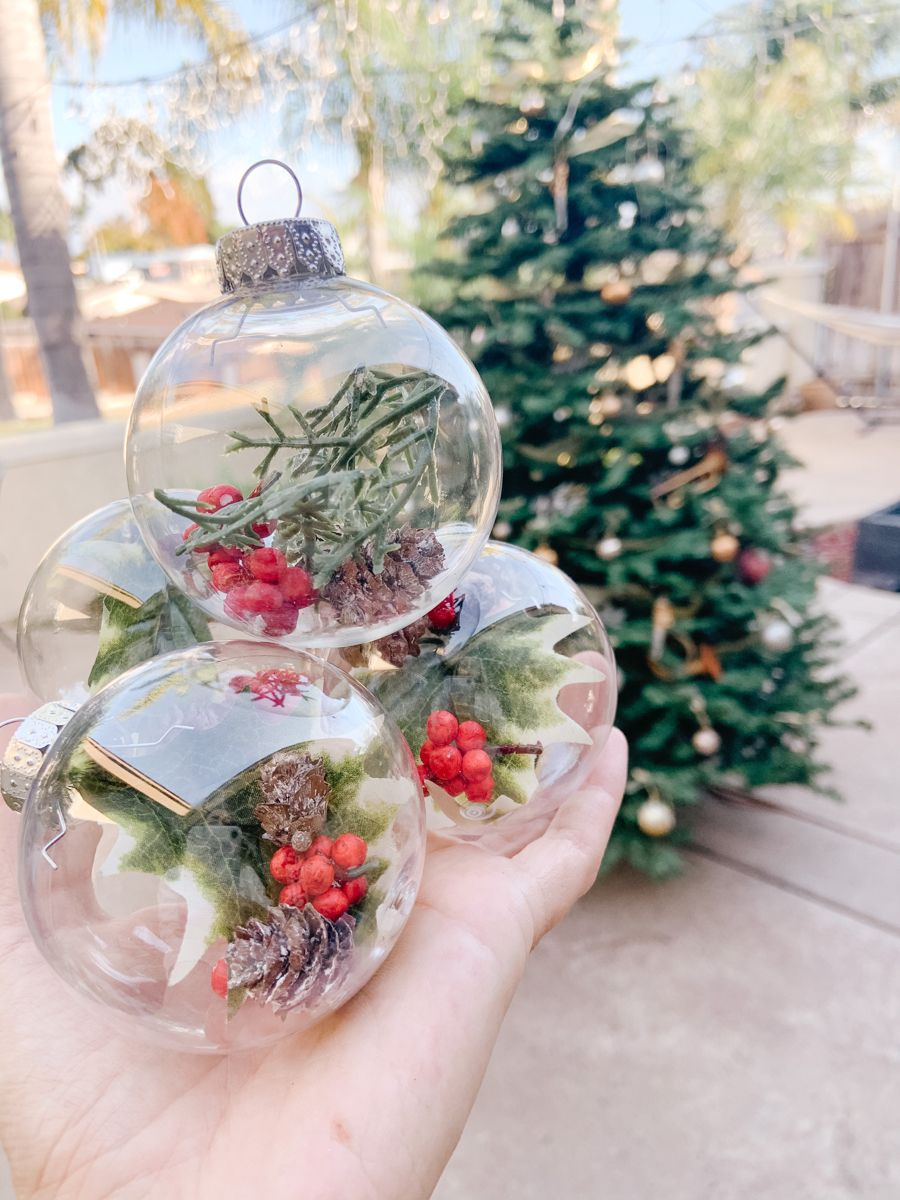 Dollar Tree Christmas Hours 2021 Dollar Tree Clear Ornaments In 2021 Outdoor Christmas Tree Dollar Tree Christmas Decor Christmas Diy