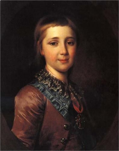 Alexander I, as a child Dmitry Levitzky 1787 Portrait