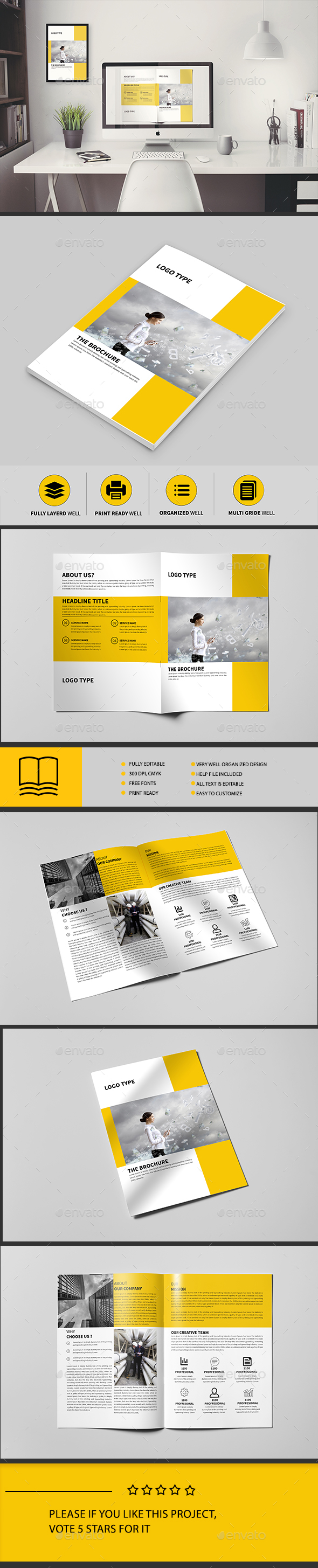 Corporate BiFold Brochure Brochure Template Brochures And - Bi fold brochure template indesign