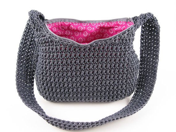 Crochet Nylon Handbag Pattern Digital Download Pdf Crochet Pattern