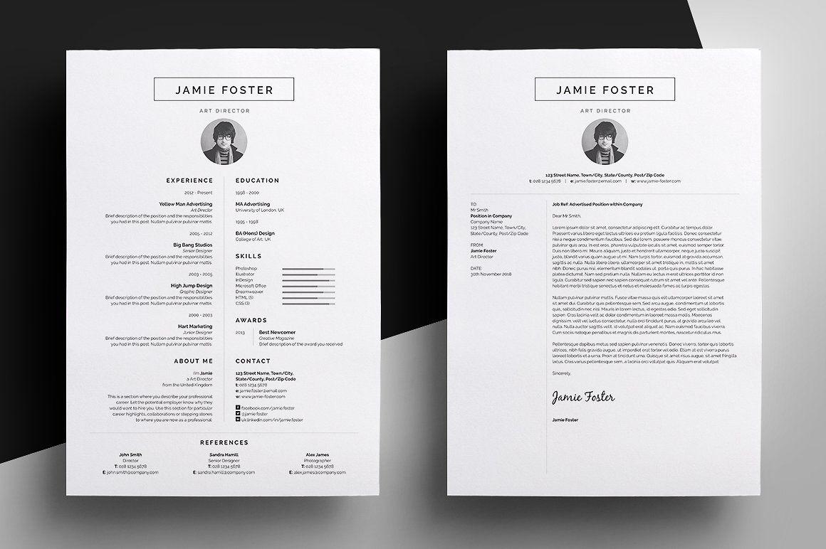Resume/CV - Jamie by bilmaw creative on @creativemarket | EMI Studio ...
