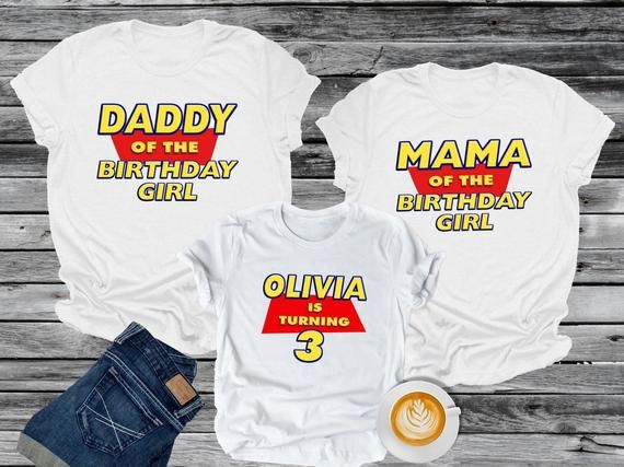a208b321 Check out my newest item on #Etsy! Toy Story Birthday Mom Dad Shirt  Personalized