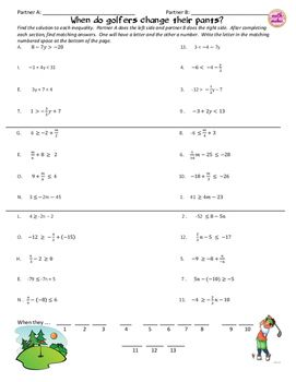 Great Way For Students To Practice Solving Two Step Inequalities With Rational Numbers Directions Find The Value Of Each V Solving Inequality Math Curriculum