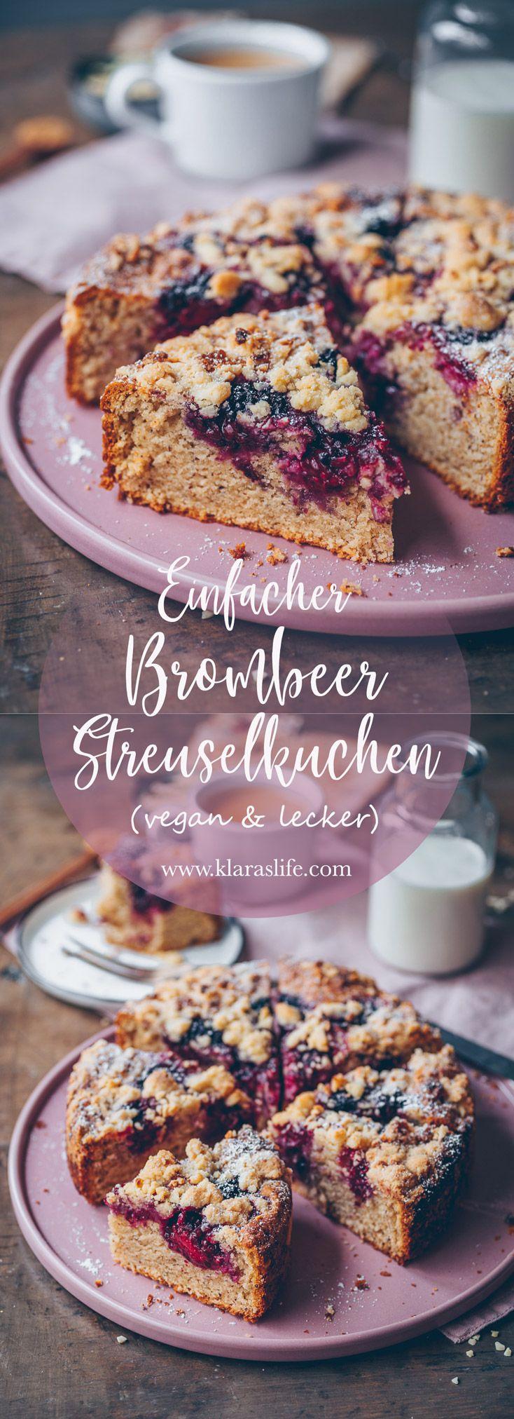 Brombeer-Streuselkuchen #brombeerenrezepte