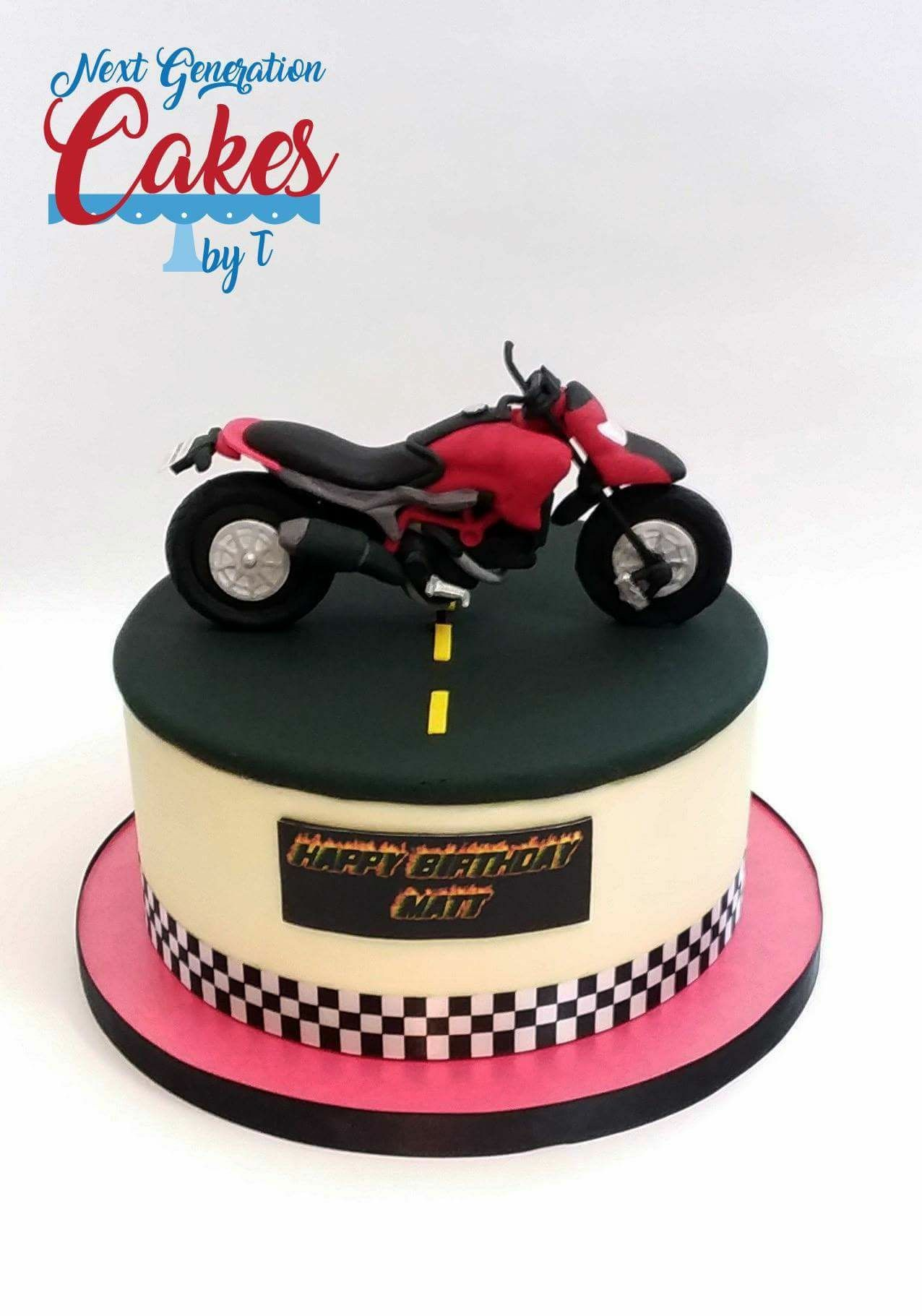 Red And Black Motorcycle Cake The Red And Black Motorcycle Cake