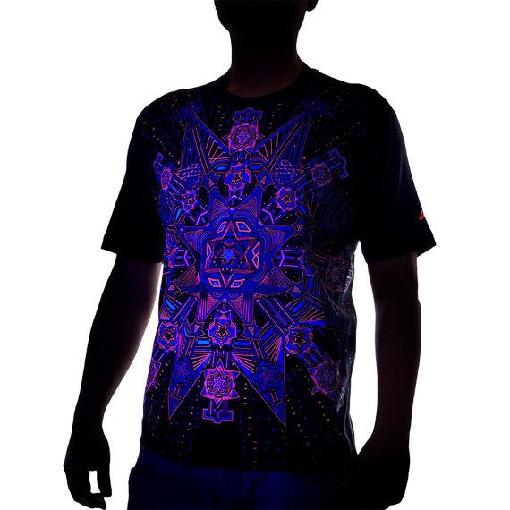 Arsystem Men 39 S Psytrance T Shirt Geometric Uv Prints
