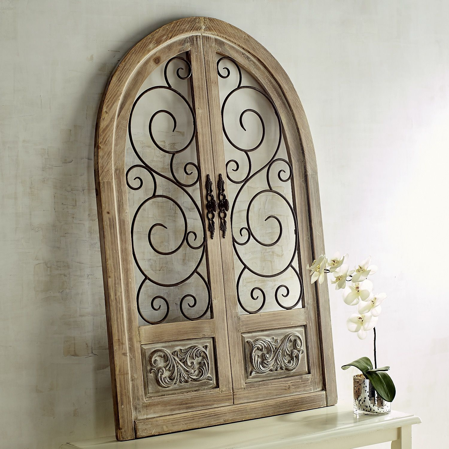 Merville Arch Wall Decor Natural Arched Wall Decor Iron Wall Decor Tuscan Decorating