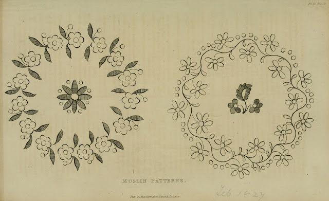 Needlework pattern. Ackermann Feb 1827