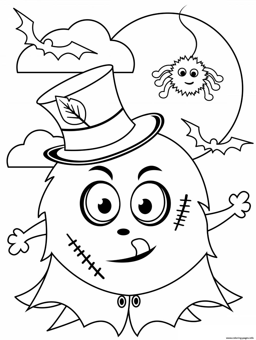 Print Halloween Monster Cute Kids Coloring Pages Monster Coloring Pages Free Halloween Coloring Pages Halloween Coloring Pages
