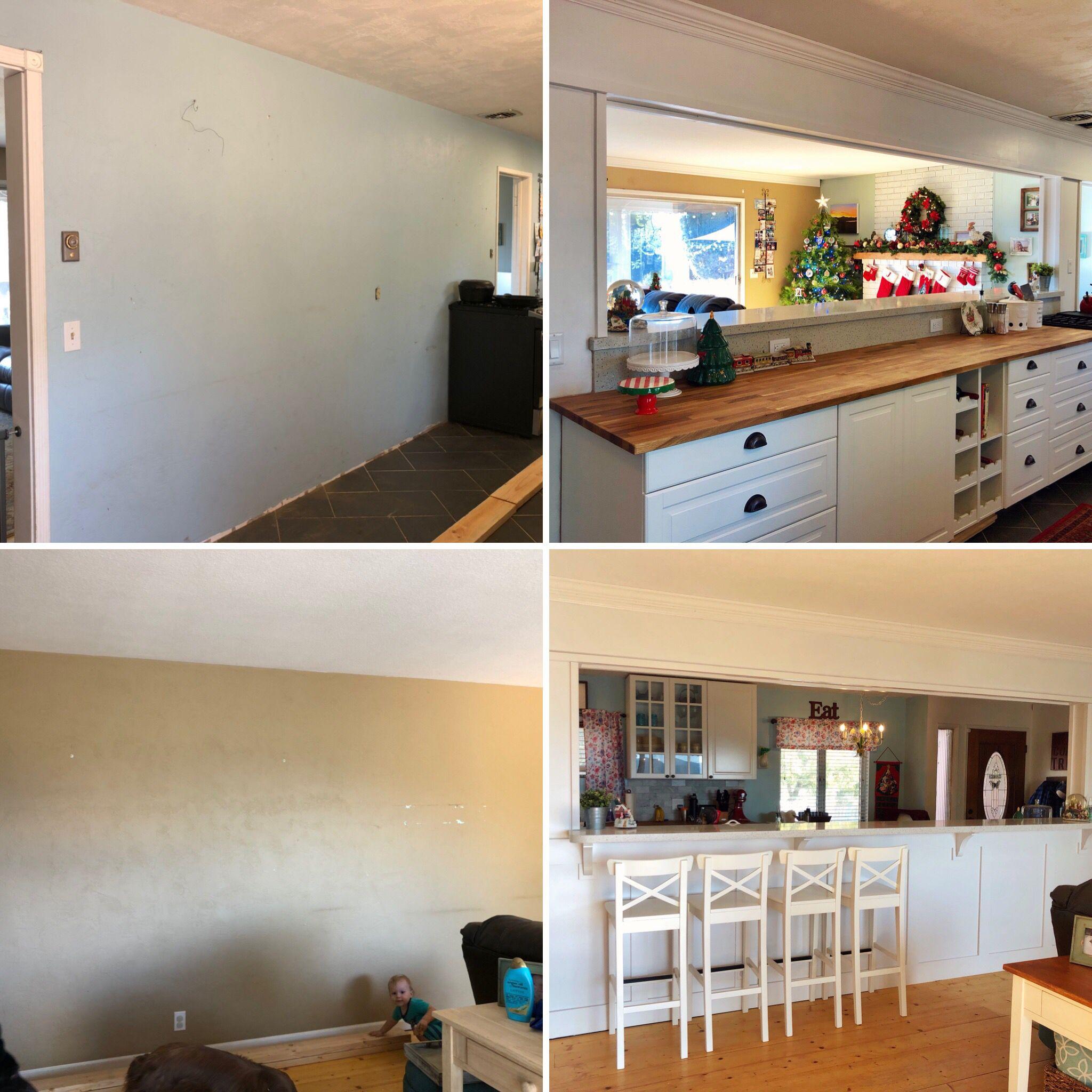 Kitchen Living Space Remodel Phase 2 Red Door Blue House Breakfast Bar Kitchen Breakfast Bar Kitchen Countertops