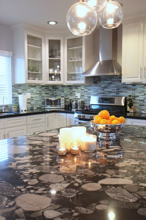 Stylish Stones Decorating With River Rock Abode Outdoor Kitchen Countertops Contemporary Kitchen Outdoor Kitchen Design
