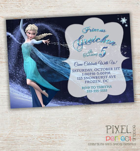 FROZEN PRINTABLE INVITATION Custom Frozen Invitation For Girls