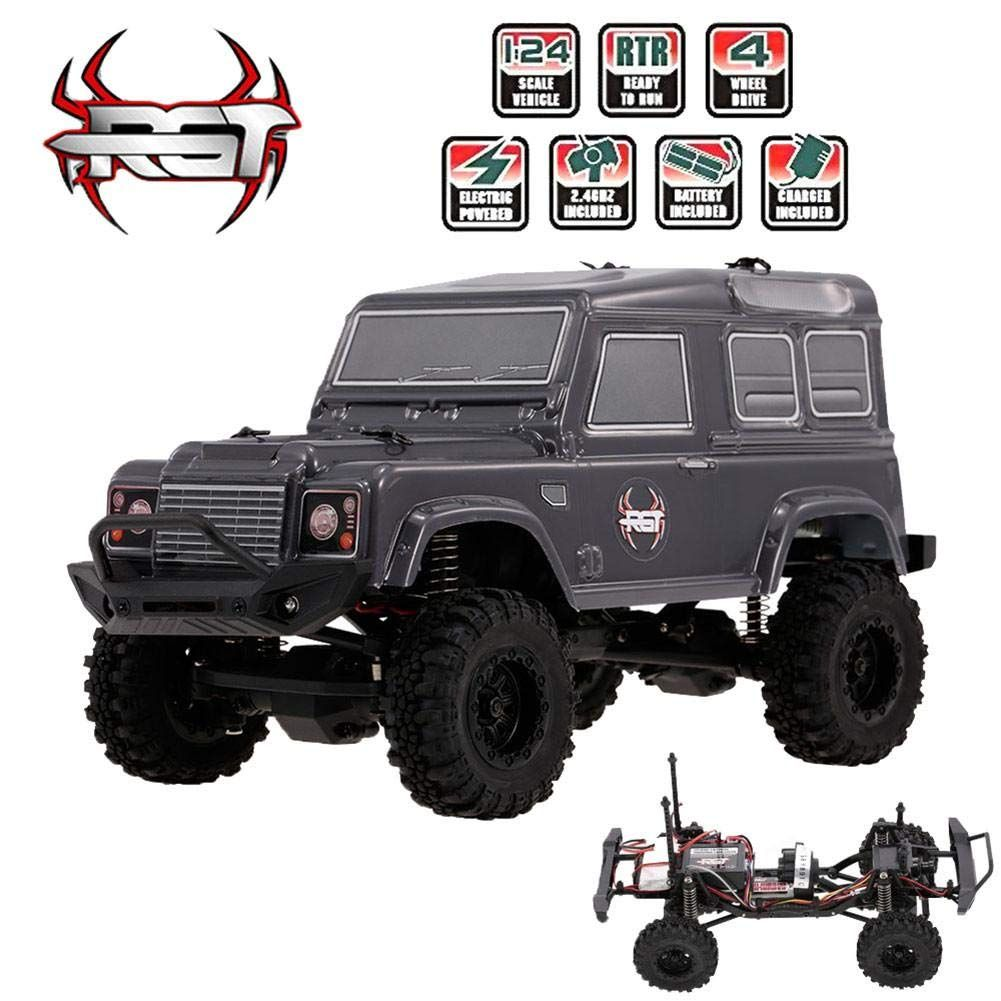 VOVI Jeep RC Car Toy for Kids Rechargeable Car RGT 1/24 2