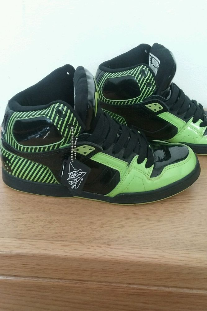 393e730c245a6 Osiris NYC Skate Shoe Neon Green and Black sz. 9.5 #Osiris #Skateboarding