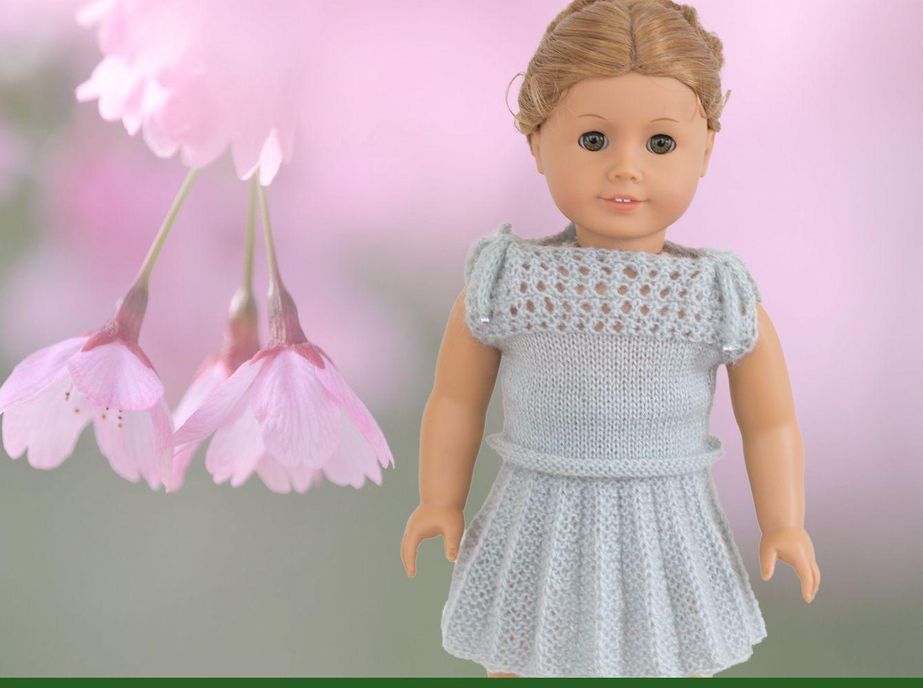 Knitting Pattern for American Girl dolls Plisse skirt and top ...