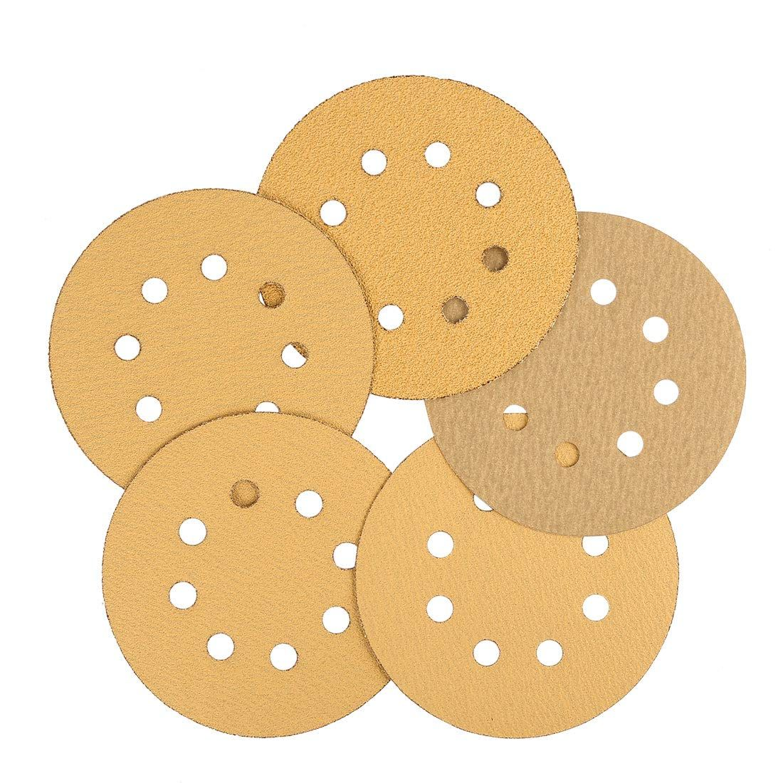 Uxcell 50 Pcs 5 Inch 8 Hole Hook And Loop Sanding Discs Sander Pads 60 80 100 120 240 Assorted Grits Sandpaper For More In In 2020 Abrasive Wheels Sandpaper Assorted